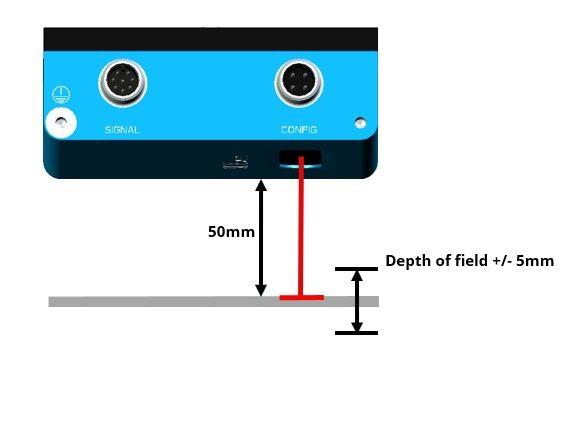 Bezkontakta virsmas kustības sensors SICK SPEETEC 1D-2
