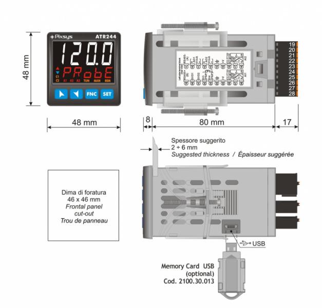 Jaunās paaudzes PIXSYS BLUE LINE PID Procesu parametriskie kontrolleri-9