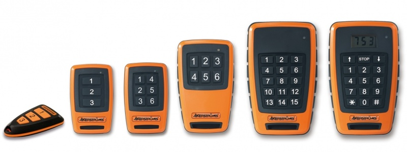 Industrial remote control solutions for doors, gates, barriers, spotlights and other devices from Åkerström.-2