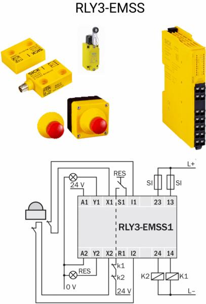 Реле безопасности серии ReLy для OSSD и EMSS устройств от SICK-1