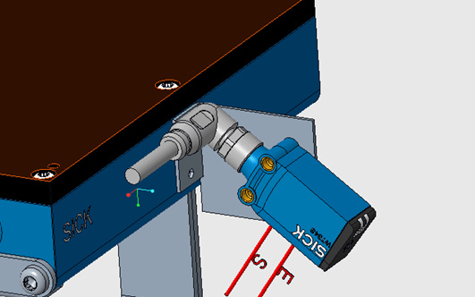 Bezkontakta virsmas kustības sensors SICK SPEETEC 1D-8