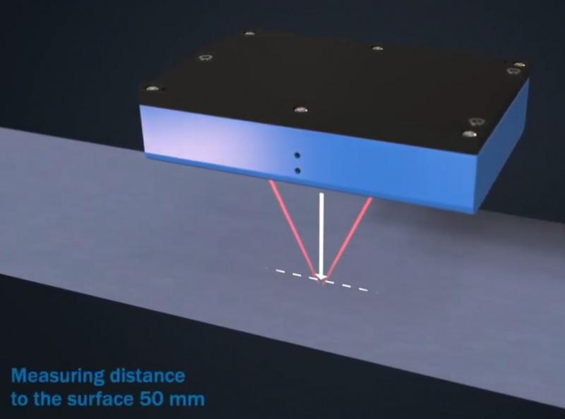 Bezkontakta virsmas kustības sensors SICK SPEETEC 1D-1