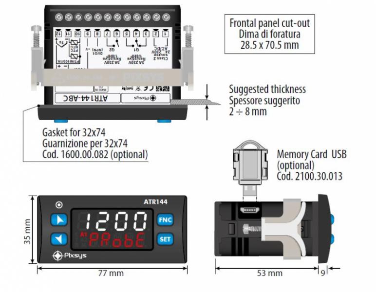 Jaunās paaudzes PIXSYS BLUE LINE PID Procesu parametriskie kontrolleri-14