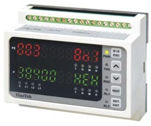 DIN rail-mountable measuring devices