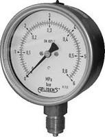 MS-100K/0-250bar/M20x1.5 Manometrs - industriāls spiediena manometrs; diapazons 0..250bar; procesa savienojums M20x1,5;