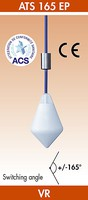 ATS 165 EP līmeņa pluds dzeramajam ūdenim ar sertifikātu, kab. 5m, nostr. leņķis +/- 165º, H 152 mm - Ø 95 mm.