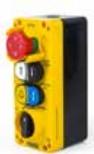 PA4443  vadības kārba:1pcs. Emergency Stop with Window, 1 pcs.Double Push Button (Arrow Signed), 1pcs. Double Push Button (Bell and Lamp Signed), 1 pcs.Rotary Cam Switch