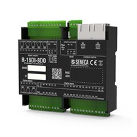 R-16DI-8DO-P interface with 16 DI, 8 digital relay outputs and Profinet protocol