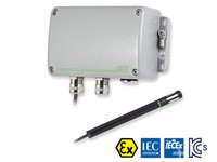 EE100Ex ATEX and IECEx Intrinsically Safe Humidity and Temperature Sensor -40 °C up to 60 °C, ACCURACY ±2% RH / ±0.2 °C (±0.36 °F), OUTPUT 4-20 mA (2-wire), 24 Vdc