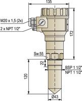 Nivelco PiloTREK mikroviļņu līmeņa sensors, 4..20mA izeja