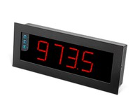 B24-T-H-R-0-0 Large format display, 4 digits, 60mm, red 4 digits with 60mm, PT100/Tthermocouples, 85-265 Vac, front size: 340x135mm