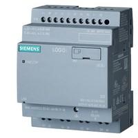 Siemens LOGO-8, 6ED1052-2CC08-0BA1, logic module, without display, PS/I/O: 24 V/24 V/24 V trans., 8 DI (4 AI)/4 DQ, memory 400 blocks, modularly expandable, Ethernet, integr. web server, data log, user-defined web pages, standard microSD card for LOGO! So