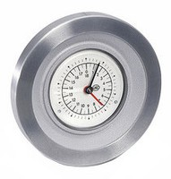 Handwheel with position indicator type HKF12-C-OG-6,8-OP-OK-10-i-1-MN-N10-C1 lacquered, pre-drilled, clockwise increasing, scale 0...10