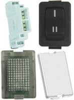 Modulārās pogas, sledži un indikatori